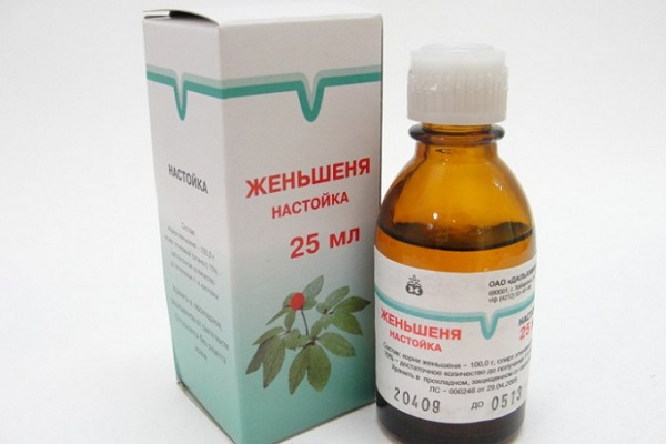 Настойка женьшеня в виде лекарства для иммунитета