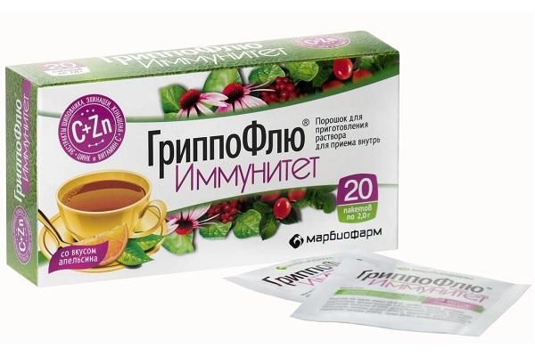Препарат ГриппоФлю Иммунитет