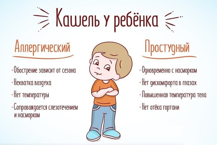 Отличия аллергического кашля от простудного у ребенка